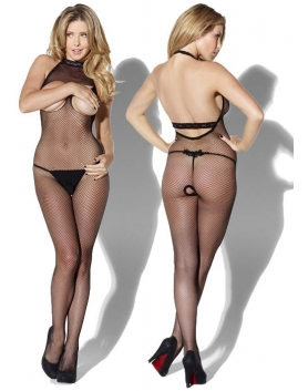 Kiss Me - bodystocking open bust