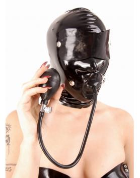 Maska lateksowa z odpinanymi elementami, bez zamka 4114