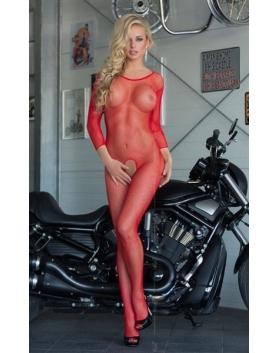 Softline Bodystocking Netty S-L czerwony