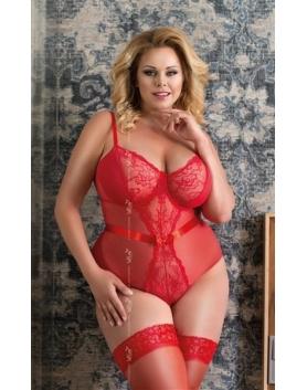 Softline Amelia Plus Size czerwone body