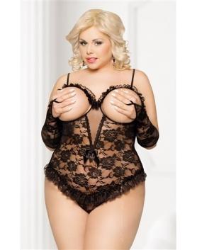 Softline Bona Plus Size czarne body