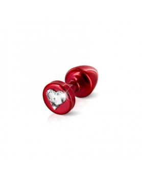 Anni by Diogol - korek z kryształem Swarovski czerwony