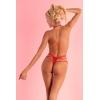 Livia Corsetti Mahiromin gipiurowe open body czerwone