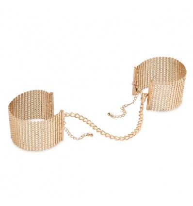 Bijoux Indiscrets Desir Metallique Cuffs kajdanki biżuteryjne złote