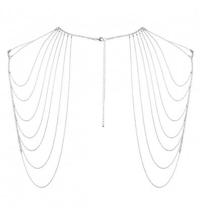 Bijoux Indiscrets Magnifique Shoulder Body Chain srebrny
