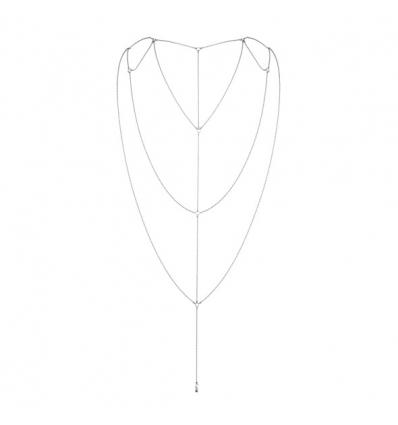 Bijoux Indiscrets Magnifique Back Body Chain srebrny
