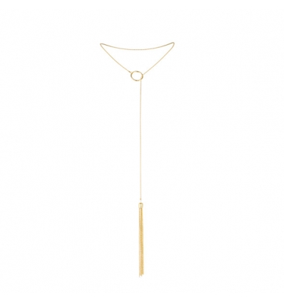 Bijoux Indiscrets Magnifique Tickler naszyjnik z pejczykiem złoty