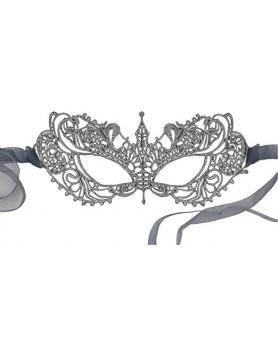 Ażurowa maska na oczy MX13 silver
