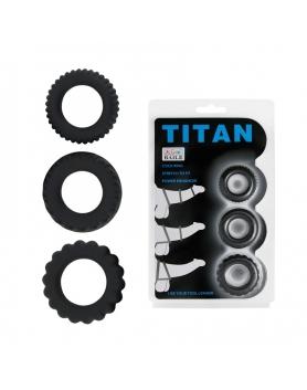 Titan - zestaw 3 pierścieni silikonowych