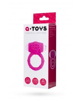 A Toys - Delikatny silikonowy pierścień z wibracjami