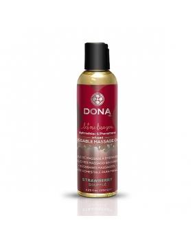 Dona - jadalny olejek do masażu truskawka