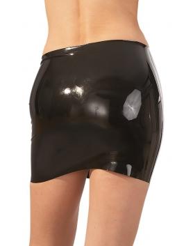 Lateksowa mini spódniczka czarna M